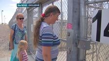 Family drive across Nevada desert visit Michael Sandford.