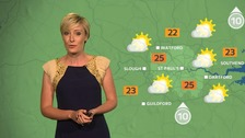 Weather: Hot and sunny with a 31C possible by Tuesday.