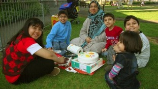 Mother Sabah Usmani and her five children
