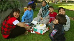 Mother Sabah Usmani and her five children