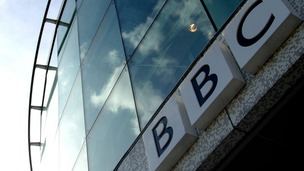 BBC logo at Television Centre, west London