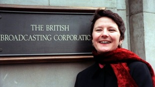 Helen Boaden outside Broadcasting House, London