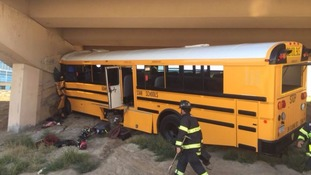 Driver killed after school football team bus crash at airport