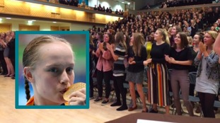 Ellie's school celebrates her Paralympic victory