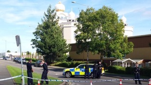 A police cordon was put in place around the temple.