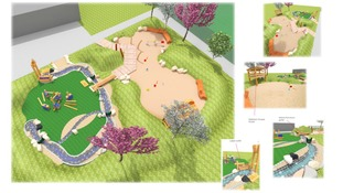Sand and water play area