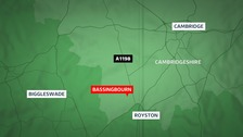 A nine-year-old boy and woman were killed in two car crash at Bassingbourn.