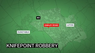 A delivery driver was threatened by a knifeman and had his van stolen in Luton.
