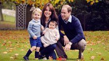 George and Charlotte pictured with the Duke and Duchess of Cambridge