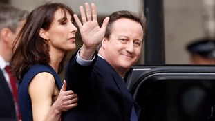 David Cameron waves as he leaves No 10 earlier this year