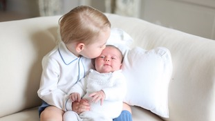 File photo released by the Duke and Duchess of Cambridge of Prince George and Princess Charlotte