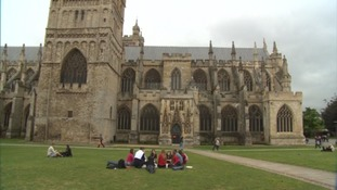 Vandals attack Exeter Cathedral