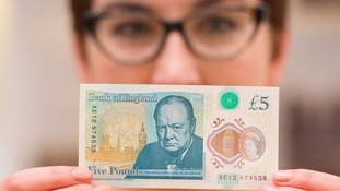 New £5 notes featuring Sir Winston Churchill go into circulation