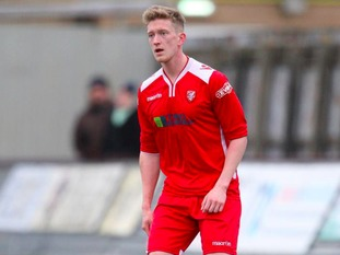 Daniel Wilkinson in action for his former club Scarborough Athletic FC