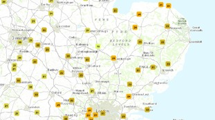 Temperatures at 10am has already reached 25°C in the Anglia region.