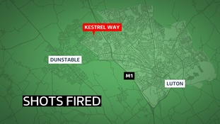 Police are investigation are shots were fired at a building in Luton.