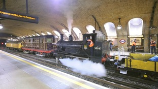 London Underground's test steam run.