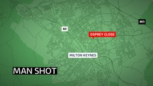 Police have launched a murder hunt after a man was shot in Milton Keynes.