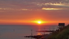 Sunrise at Sheringham, Norfolk on the hottest September day since 1911.