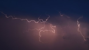 Weather watch: Lightning strikes the Midlands