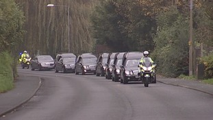 The cortege was accompanied by police riders
