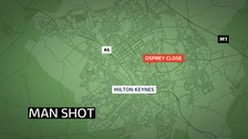 A man has been arrested on suspicion of murder in connecting with a shooting in Milton Keynes.