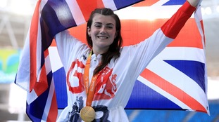 Hollie Arnold won gold in the javelin throw F46.