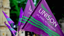 Members of Unison will walk out and lobby MPs in Westminster.