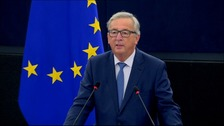 Jean-Claude Juncker won applause in the Strasbourg chamber for his stance on Brexit.