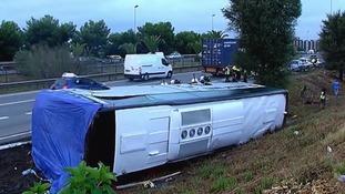 Barcelona tourist bus crash leaves British and Irish nationals injured