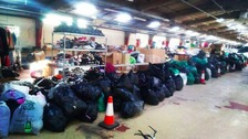 Fifteen tonnes of clothing was left behind by runners at the start line.