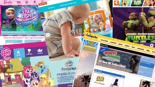 Some of the websites involved include Barbie and My Little Pony.