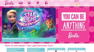 The Barbie site and brand is owned by Mattel.
