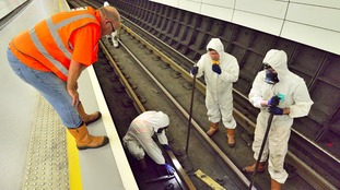 New tracks being installed on Metro tunnels under Newcastle