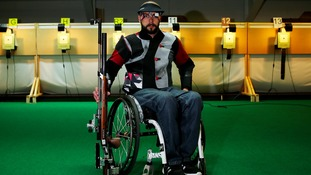Peterborough's Matt Skelhon set a new Paralympic record in the qualifying round in the 10m shooting