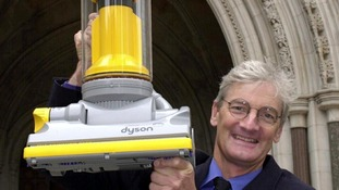 James Dyson pictured with his pioneering 'bagless' hoover in 2000.