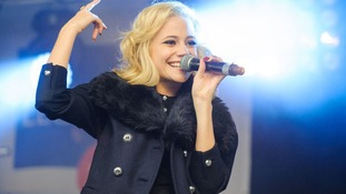 Pixie Lott performs at the launch of the Royal British Legion Poppy Appeal 2012 in Trafalgar Square