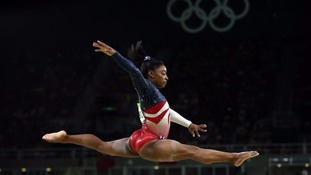 US gymnast Simone Biles was targeted on Tuesday