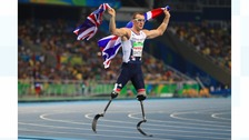 Great Britain's Richard Whitehead winning the Men's 200m earlier this week.