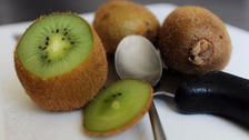 A knifeman who terrified passers-by claimed he was hallucinating - after overdosing on kiwi fruit.