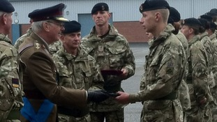 Duke of Gloucester presents medals