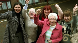 Current and former Birmingham Council workers and supporter, after today's Court judgement.