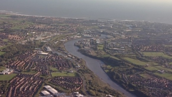River Wear aerial view