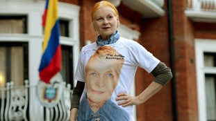 Dame Vivienne Westwood arrives at the Embassy of Ecuador, London, to visit Wikileaks founder and current asylum seeker Julian Assange.
