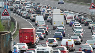 General view of traffic on the M5.