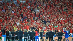 Wales fans given 'outstanding contribution' award during Euros