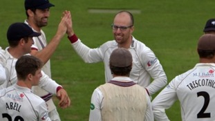 Somerset won their penultimate match against Yorkshire