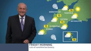 Bob Crampton with the weather