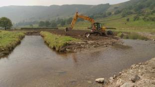 Work at Swindale beck is under way