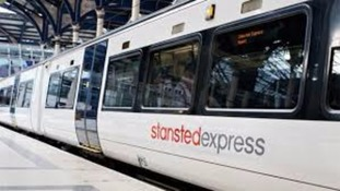 The Stansted Express and other rail services in the East have been severely disrupted by the weather